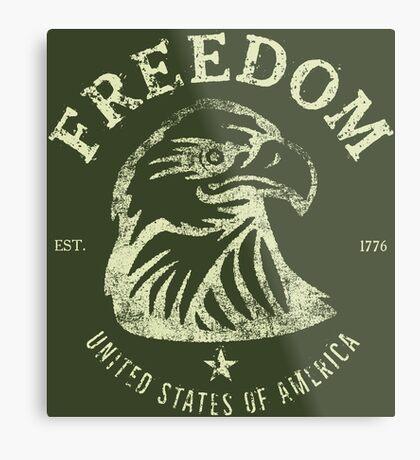 American Freedom & Bald Eagle Metal Print