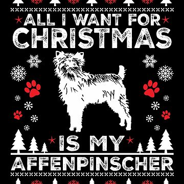 Ugly Christmas Affenpinscher Sweatshirt Gift Idea by BBPDesigns