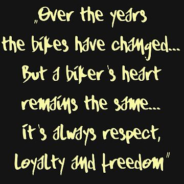 Bikers Years Statement Motorcycle by lemmy666