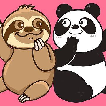 Sloth Panda by plushism