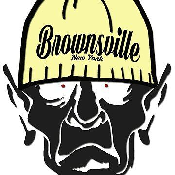 Brownsville New York Hometown Hipster Skull Trucker Cap Death by lemmy666