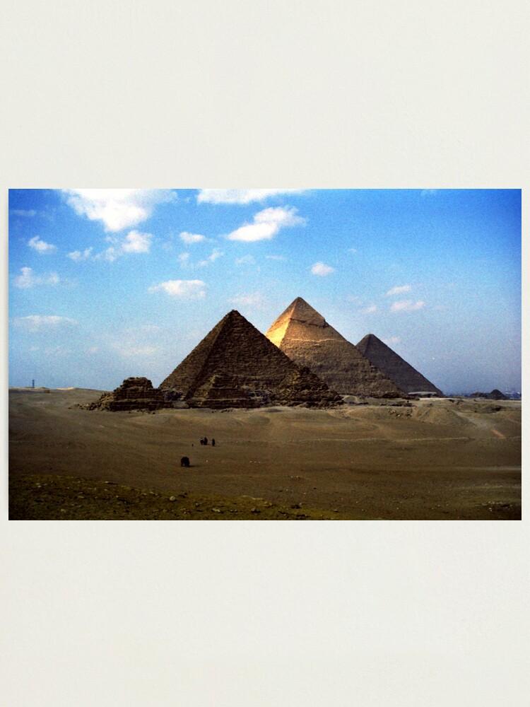 Alternate view of Giza Necropolis  Photographic Print