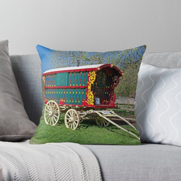 Gypsy Caravan Throw Pillow