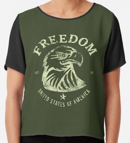 American Freedom & Bald Eagle Chiffon Top