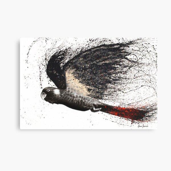 Fearless Black Cockatoo Canvas Print