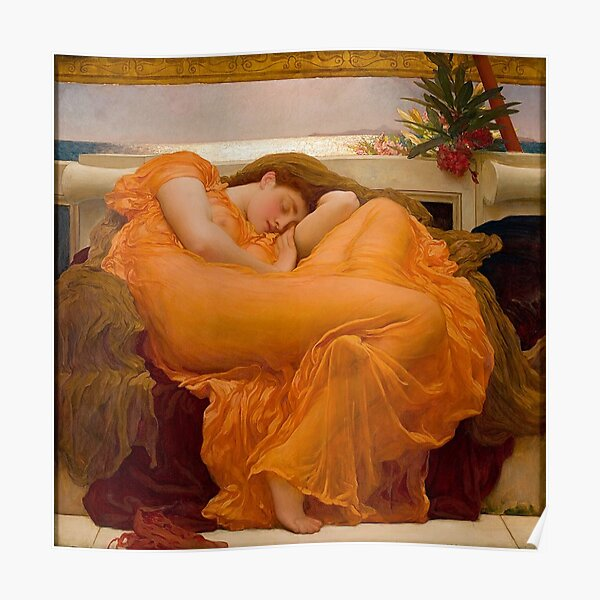 FLAMING JUNE - FREDERIC LEIGHTON Poster