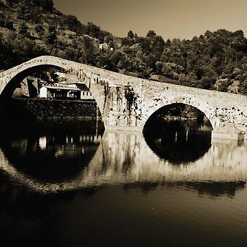 il Ponte del Diavolo, near Lucca, Italy by AndyJones