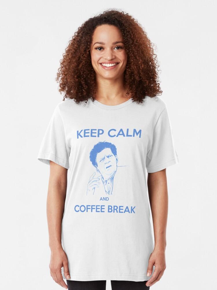 Alternate view of Coffee Break Signori Slim Fit T-Shirt