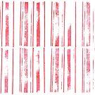 simple stamped scarlet stripes - a handmade pattern by VrijFormaat
