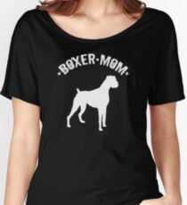 Boxer Dog Mom Design - Boxer Mom Women's Relaxed Fit T-Shirt