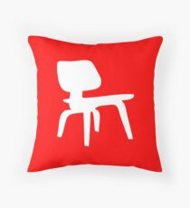 Eames Lounge Chair Wood - Inverted Throw Pillow