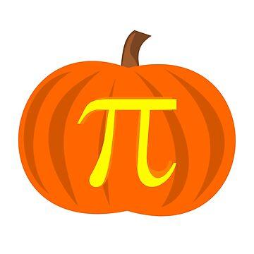 Funny Halloween Pumpkin Pi Math Pun Geek Nerd by MadsJakobsen