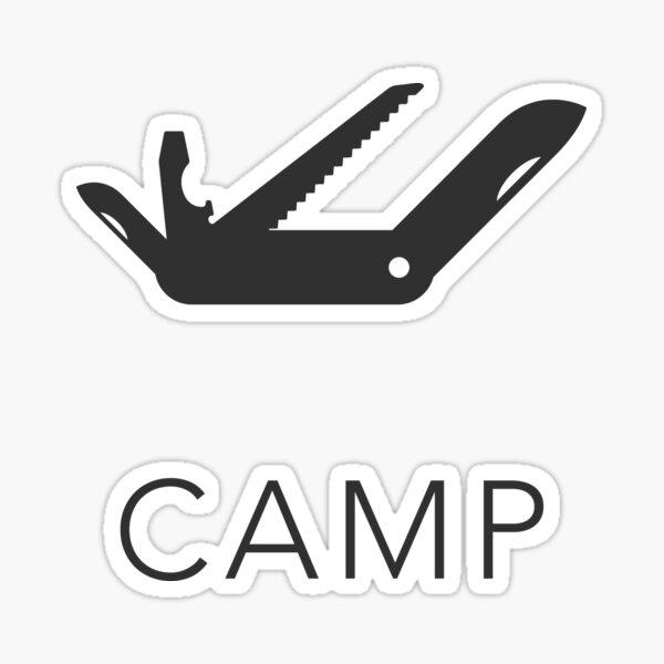 Camp Penknife Sticker