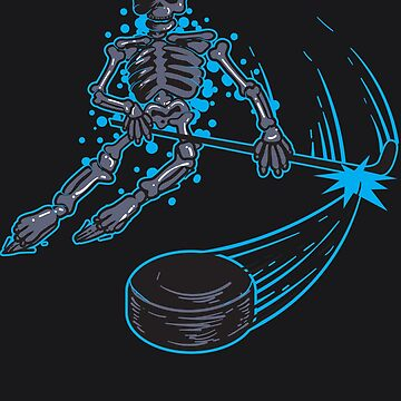 Funny Skeleton Playing Ice Hockey Design - Cool Skull Gift by NBRetail