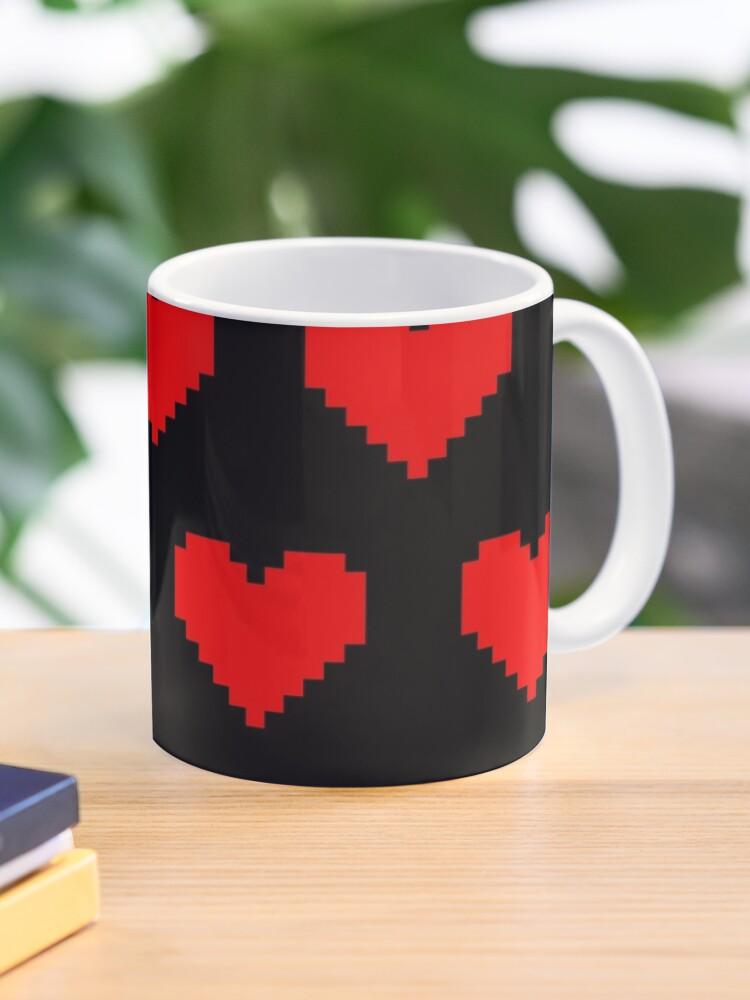Motif De Coeurs Damour Pixel Art Jeux Rétro Gamer Lofi Modèle Mug