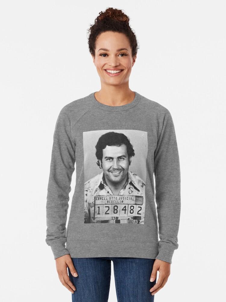 Alternative Ansicht von PABLO ESCOBAR MUGSHOT Leichtes Sweatshirt