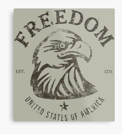 American Freedom Bald Eagle Dark Metal Print