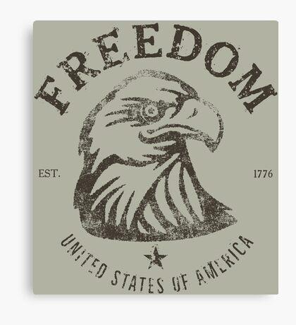 American Freedom Bald Eagle Dark Canvas Print
