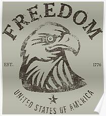 American Freedom Bald Eagle Dark Poster