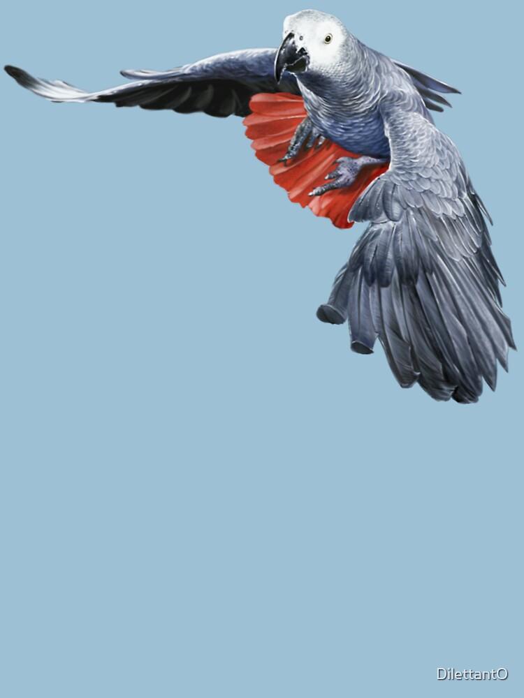 AFRICAN GREY PARROT (FLYING) #2 von DilettantO