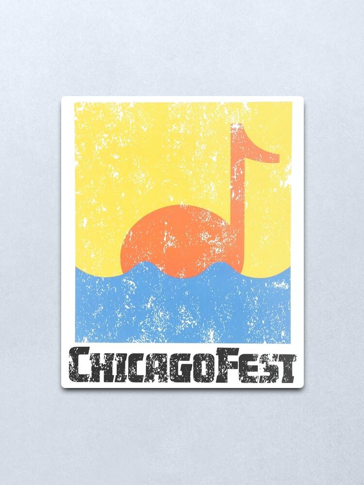 Alternate view of Chicagofest 1981 Metal Print
