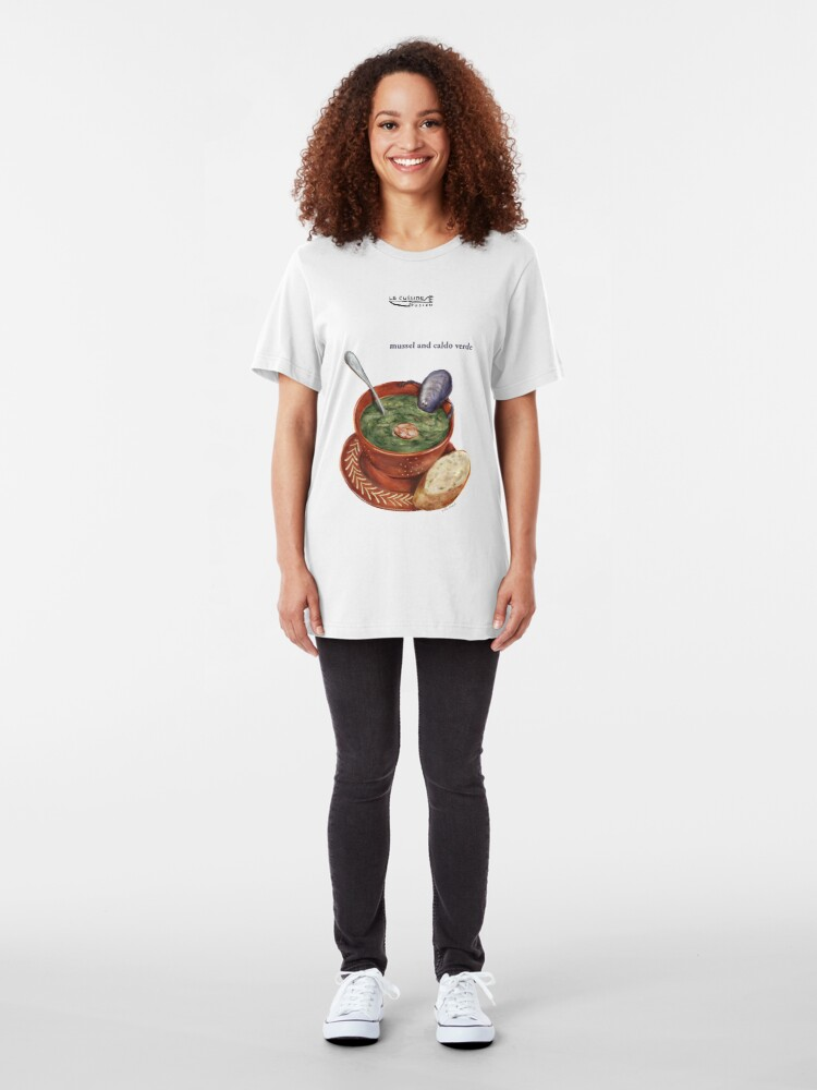 Alternate view of La Cuisine Fusion series - Mussel with Caldo Verde Slim Fit T-Shirt