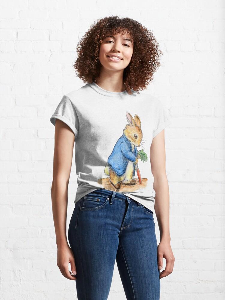 Alternate view of Nursery Characters, Peter Rabbit, Beatrix Potter. Classic T-Shirt