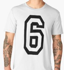 6, TEAM, SPORTS, NUMBER 6, SIX, SIXTH, Competition Men's Premium T-Shirt