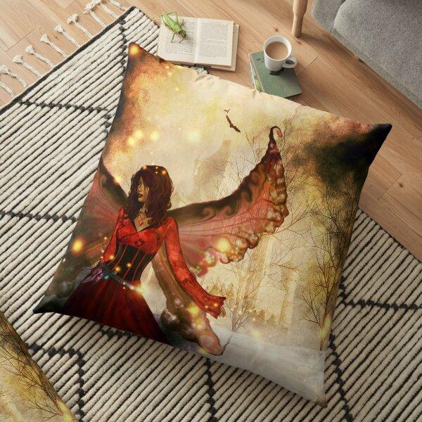 Peering into fantasy Floor Pillow