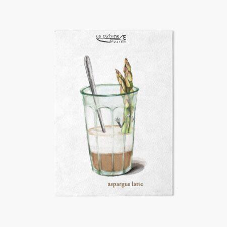 La Cuisine Fusion series - Aspargus Latte Art Board Print