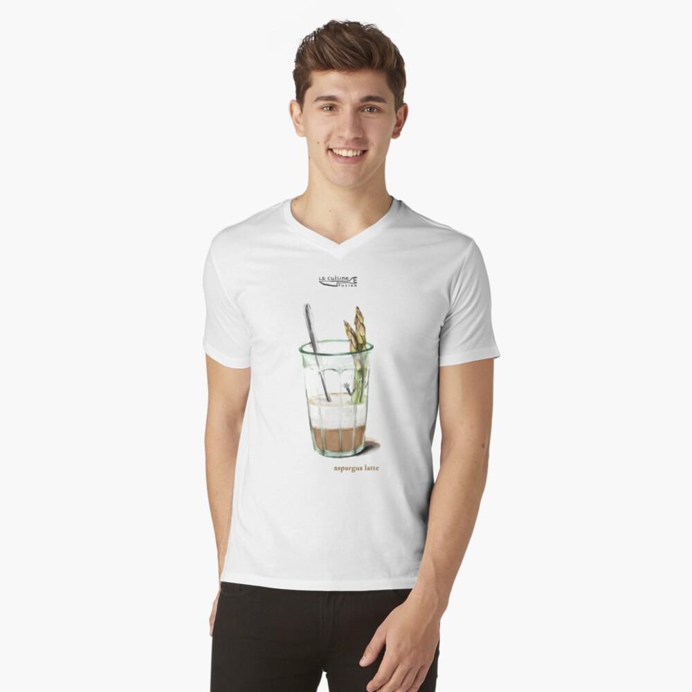 La Cuisine Fusion series - Aspargus Latte V-Neck T-Shirt