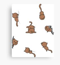 Chat-lice Canvas Print