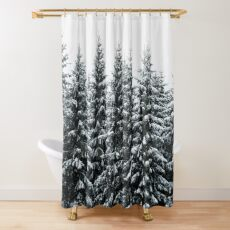 The White Bunch Shower Curtain