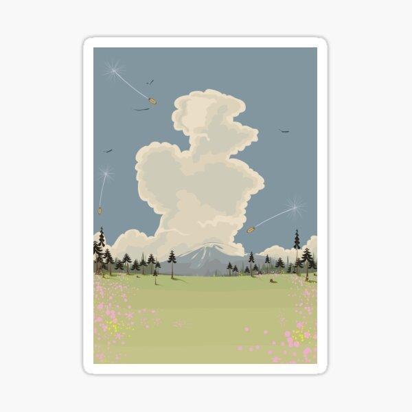 Mountain Landscape cartoon. Sticker