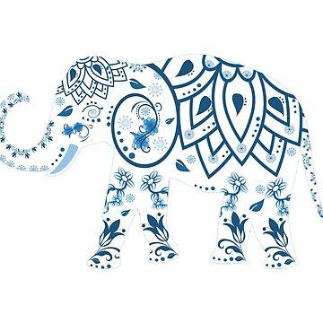 Elephant decorated by fourretout