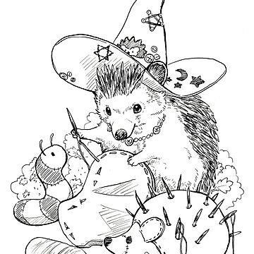 Hedgehog Plush Dolly Witch by pawlove