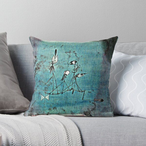 Paul Klee artwork, Twittering Machine Throw Pillow