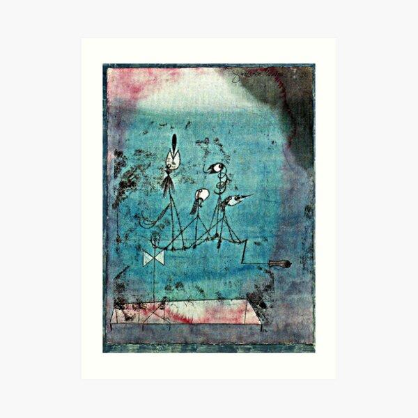 Paul Klee artwork, Twittering Machine Art Print