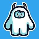 Kawaii Cute Abominable Snowman Yeti by Fiona Reeves