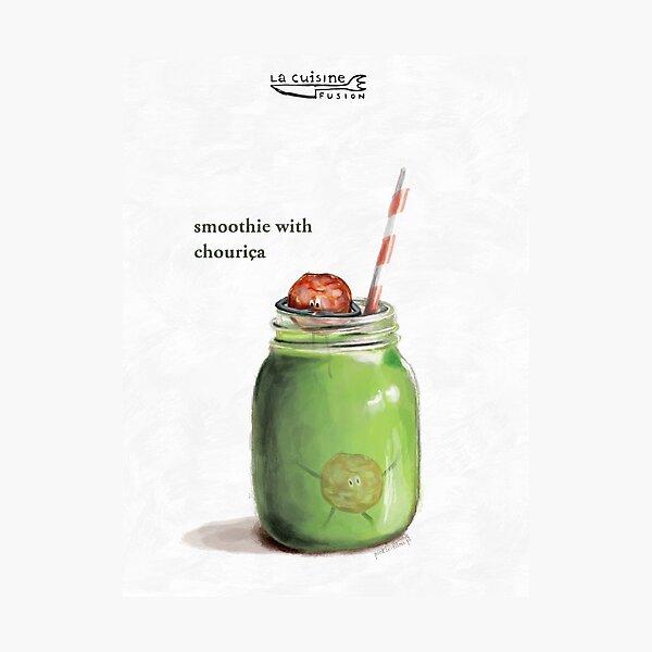 La Cuisine Fusion series - Smoothie with Chouriça Photographic Print