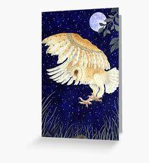 A Barn Owl eyes up its prey Greeting Card