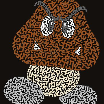 """Goomba"" - Bad Mushroom in Mario Bros by Karotene"