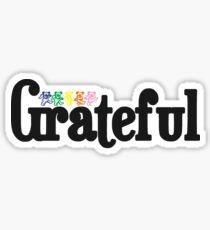 """""""Grateful"""" Sticker"""
