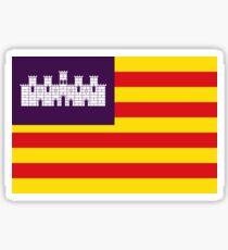 Flag of Balearic Islands Spain Sticker