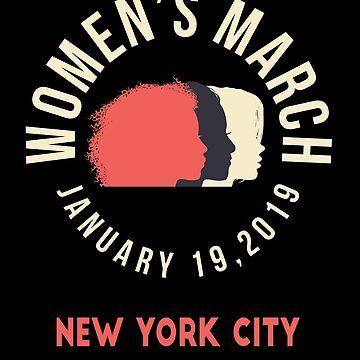Women's March 2019 New York City NYC NY by oddduckshirts