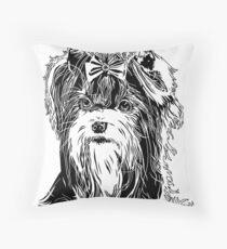 Biewer Terrier  Throw Pillow