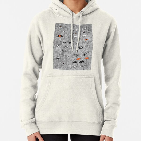 Halloween Eyes in the Dark by Chrissy Curtin Pullover Hoodie