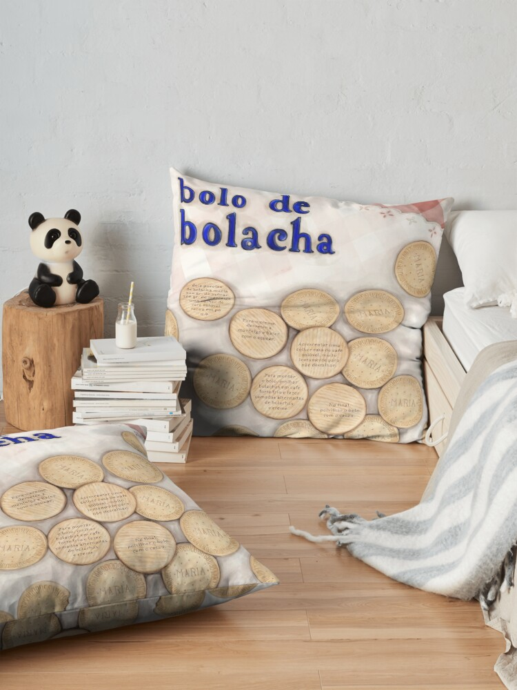 Alternate view of Bolo de Bolacha Floor Pillow