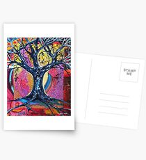 'Tree in an Abstract Landscape' Postcards