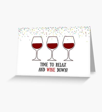 Tarjeta de vino & amp; Pegatina, tarjetas de felicitación meme Tarjeta de felicitación